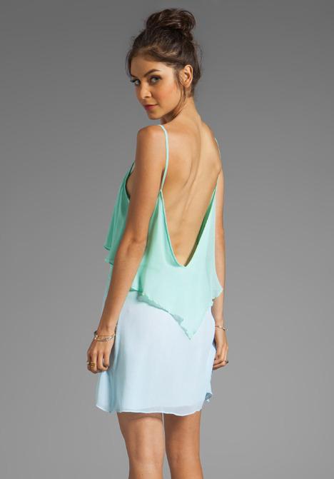 Blue Life Tie Dye Bachelorette Dress in Mint/Ocean Breeze/Lavender