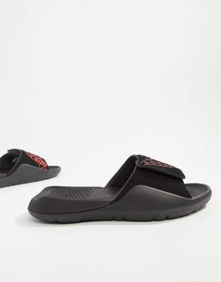official photos ae140 8b16c Jordan Nike Hydro 7 Sliders In Black