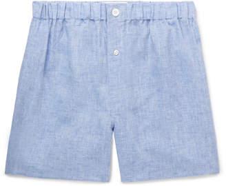 Emma Willis Melange Linen Boxer Shorts