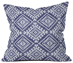 DENY Designs Shakami Denim Outdoor Throw Pillow