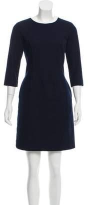 Black Fleece Three-Quarter Sleeve Mini Dress