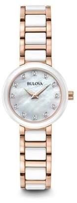 Bulova Women's Diamond Collection Two-Tone Bracelet Watch, 28mm - 0.04 ctw