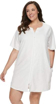 Croft & Barrow Plus Size Embossed French Terry Robe