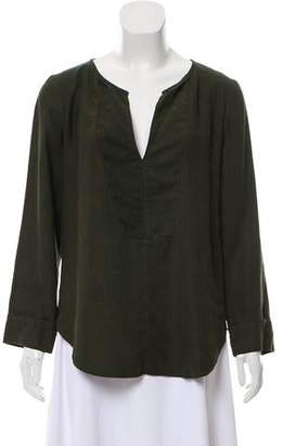 Raquel Allegra Long Sleeve Henley Top w/ Tags