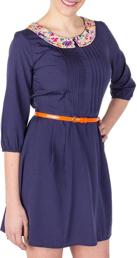 Jessica Simpson Cats Meow Blue Print Dress Juniors