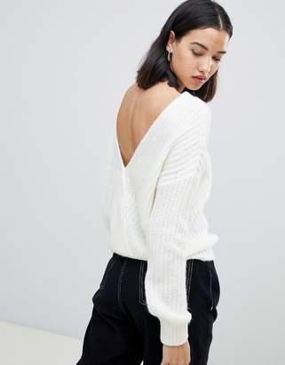 Over & Back Asos Design ASOS DESIGN jumper with cross over back