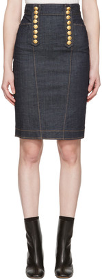 Dsquared2 Blue Denim Livery Pencil Skirt $685 thestylecure.com