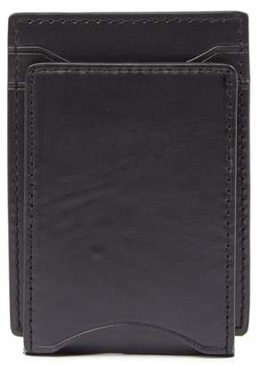 John Varvatos Flap ID Leather Credit Card Case