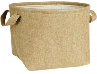 Household Essentials Generic Round Soft-Side Burlap Basket