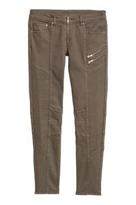 H&M Biker Pants - Khaki green - Women