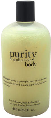 Philosophy Unisex 16Oz Purity Made Simple Body 3-In-1 Shower Bath & Shave Gel