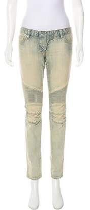 Balmain Low-Rise Straight-Leg Jeans