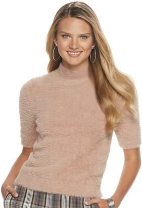 Apt. 9 Women's + Cara Santana Eyelash Mockneck Elbow Sleeve Sweater