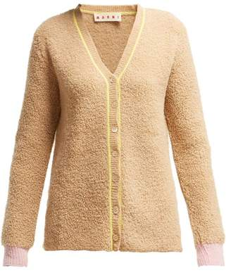 Marni Colour Block Virgin Wool Blend Cardigan - Womens - Camel