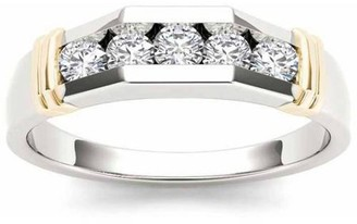 Imperial Diamond Imperial 1/2 Carat T.W. Diamond Yellow Two-Tone Men's 14kt White Gold Ring