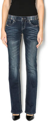 Grace in L.A. Dark Detailed Jeans
