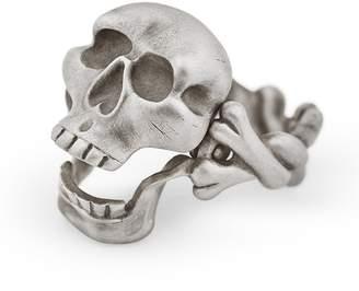 Snake Bones - Skull & Crossbones Ring with Hinged Jaw