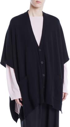 eskandar V-Neck Button-Front Longer-Back Cashmere Cardigan