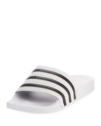 adidas Adilette Comfort Slide Sandal, White/Black