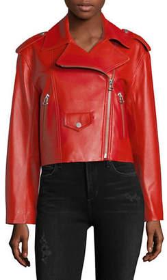 Mo&Co. Leather Moto Jacket