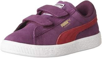 Puma Girl's Suede 2 Straps PS Girls Sneakers, Dark Purple/Love Potion