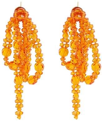 Little Bow bead-embellished earrings