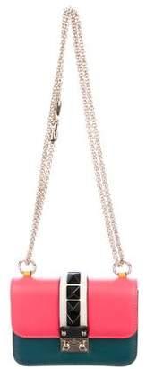 Valentino Four-Color Lock Flap Mini Bag