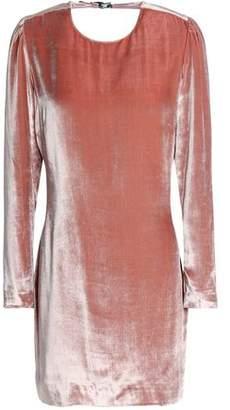 Fleur Du Mal Open-Back Velvet Mini Dress