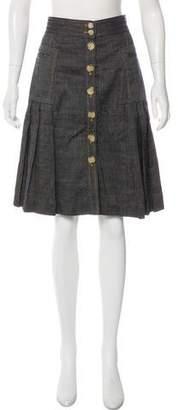 Tibi Denim Knee-Length Skirt