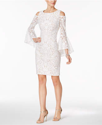 Xscape Evenings Cold-Shoulder Lace Sheath Dress, Regular & Petite Sizes