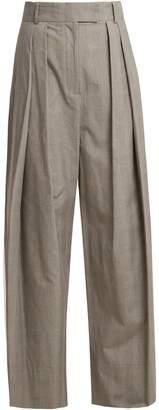 Awake Glen plaid-checked wide-leg trousers