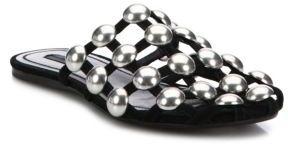 Alexander WangAlexander Wang Amelia Studded Suede Flat Sandals