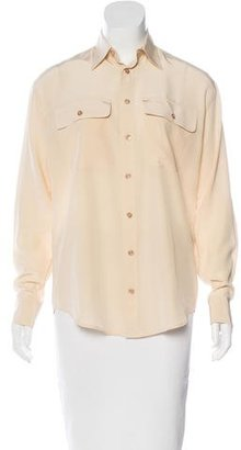 Ralph Lauren Silk Button-Up Top w/ Tags $85 thestylecure.com