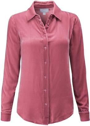 Next Womens Pure Collection Rose Silk Velvet Shirt
