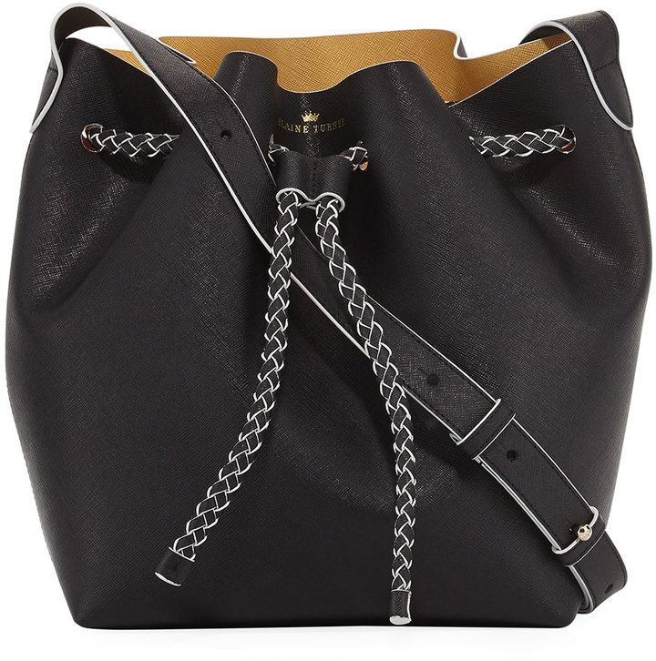 Elaine Turner The Reserve Leather Bucket Bag, Black