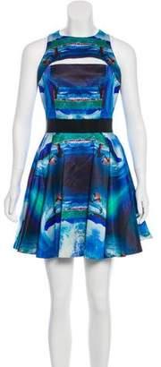 Milly Digital Print Mini Dress