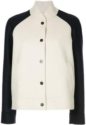 Harris Wharf London pressed wool bomber jacket