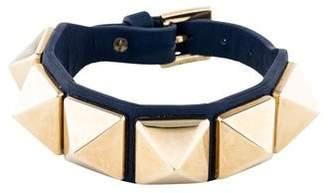 Valentino Large Rockstud Leather Bracelet