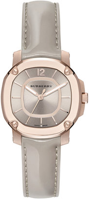Burberry Women's Swiss The Britain Gray Leather Strap Watch 34mm BBY1718 $2,395 thestylecure.com