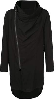 Julius cowl-neck zipped coat