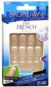 Broadway Nails Fast French Deceptions Glue-On Kit, Conceal, Short Length