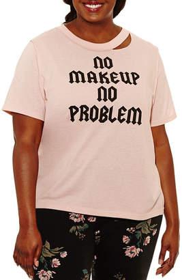Freeze Short Sleeve Crew Neck Graphic T-Shirt-Juniors Plus