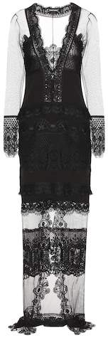 Tom Ford Macramé lace and tulle dress