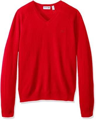 Lacoste Men's Long Sleeve Cashmere V-Neck Sweater