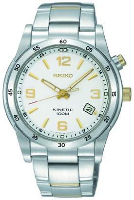 Seiko Men's SKA503 Stainless Steel Analog with White Dial Watch