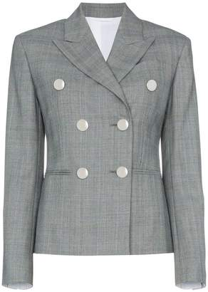 Calvin Klein Grey double breasted check blazer