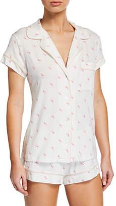 Eberjey Flamingo-Print Shortie Pajama Set