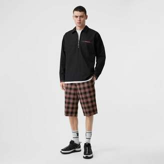 Burberry Pocket Detail Check Wool Tailored Shorts
