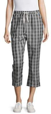 MinkPink Checked Cropped Pants