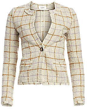 Etoile Isabel Marant Women's Lyra Grid Wool Jacket